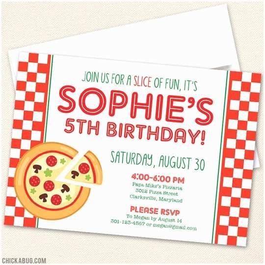 Pizza Party Invitations Pizza Party Invitations