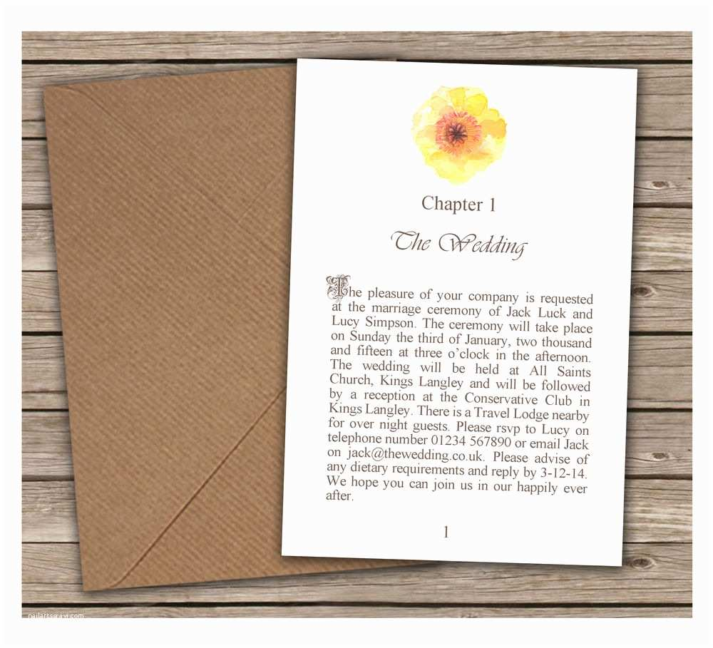 Plain Wedding Invitations Plain & Simple Yellow Flower Wedding Invitations