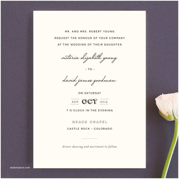 Plain Wedding Invitations Plain Jane Wedding Invitations by Design Lotus