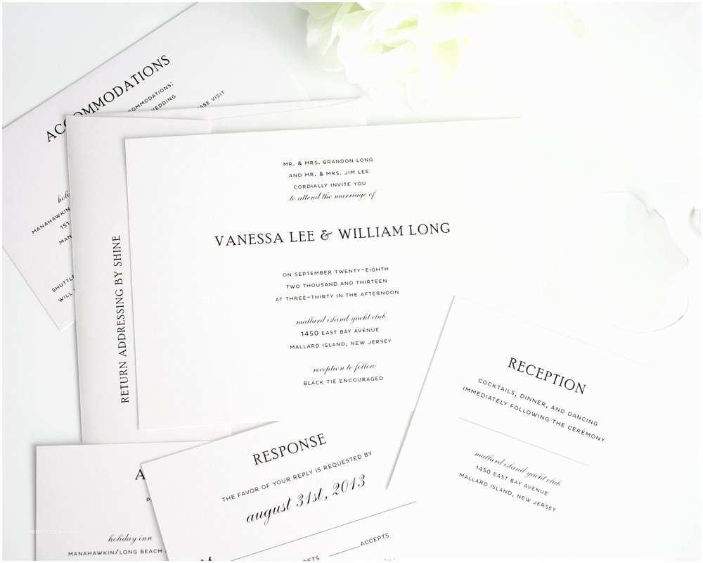 Plain Wedding Invitations Simple Wedding Invitations In Black and White Wedding