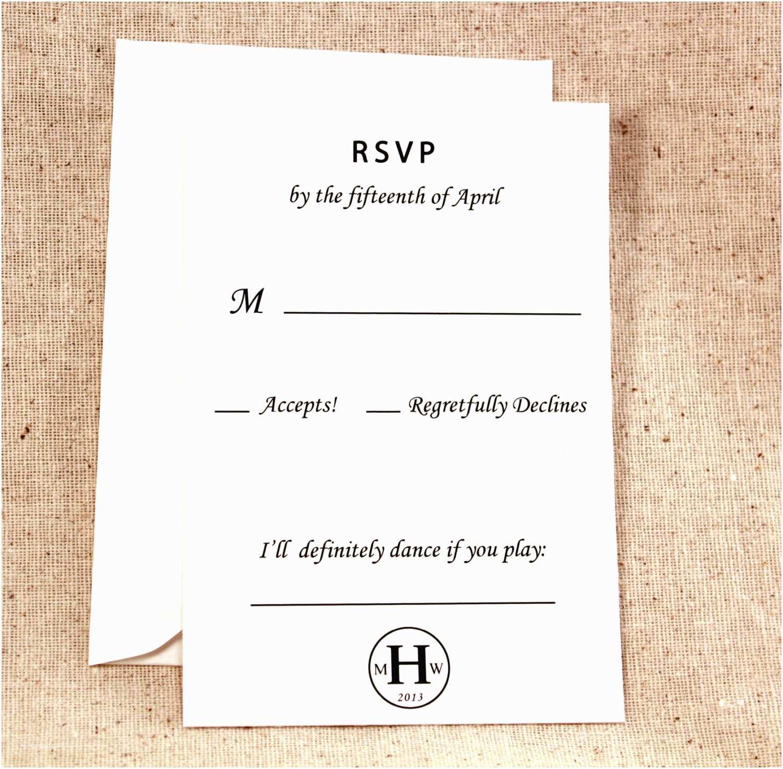 Plain White Wedding Invitations Black and White Wedding Invitation Simple Elegance