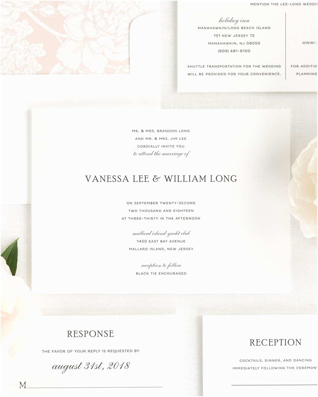 Plain White Wedding Invitations Simple Wedding Invitations In Black and White Wedding