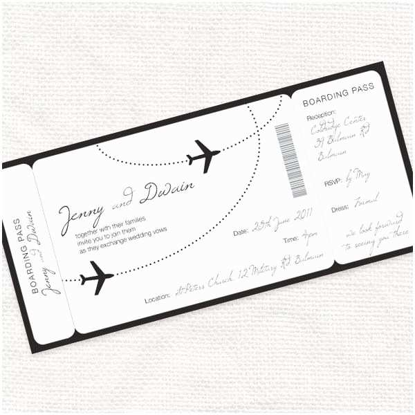 Plane Ticket Wedding Invitation Template Free 25 Best Ideas About Boarding Pass Invitation On Pinterest
