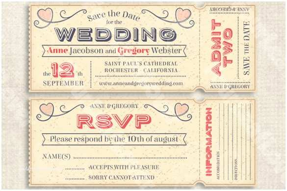 Plane Ticket Wedding Invitation Template Free 32 Best Vip Ticket Pass Template Designs for Your events