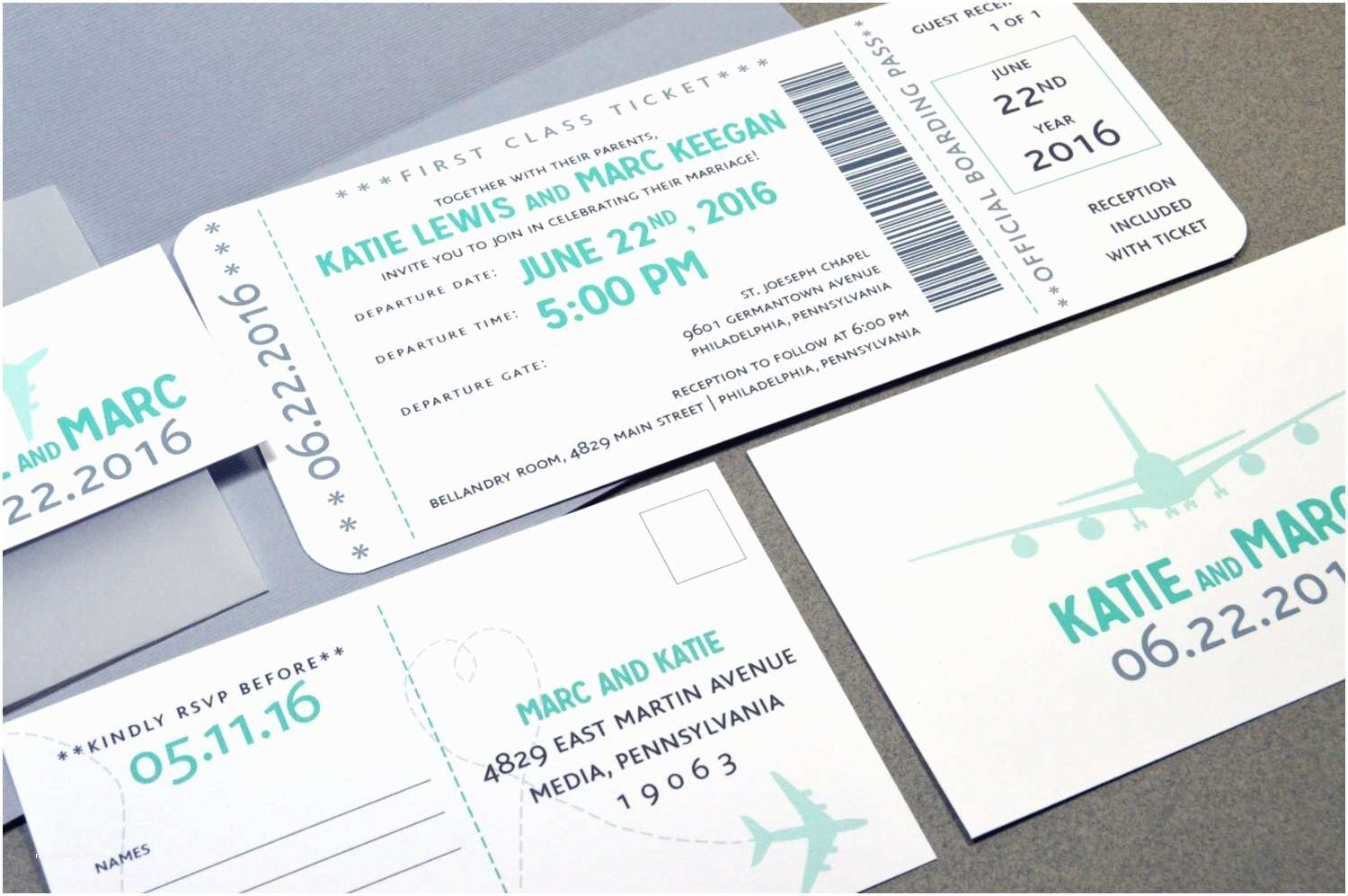Plane Ticket Wedding Invitation Template Free Boarding Pass Wedding Invitations Plane Ticket by