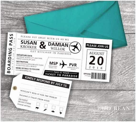 Plane Ticket Wedding Invitation Template Free Destination Boarding Pass Invitation Printable Invitation