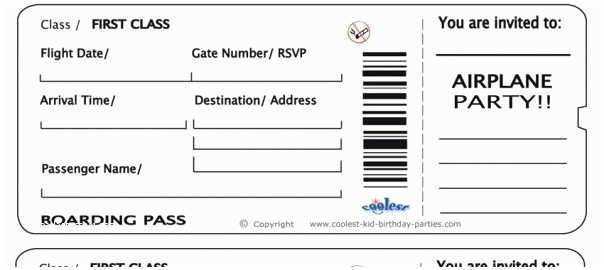 Plane Ticket Wedding Invitation Template Free Free Printable Airline Ticket