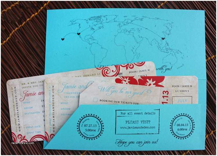 Plane Ticket Wedding Invitation Template Free Hawaii and Hong Kong Antique Boarding Pass Wedding