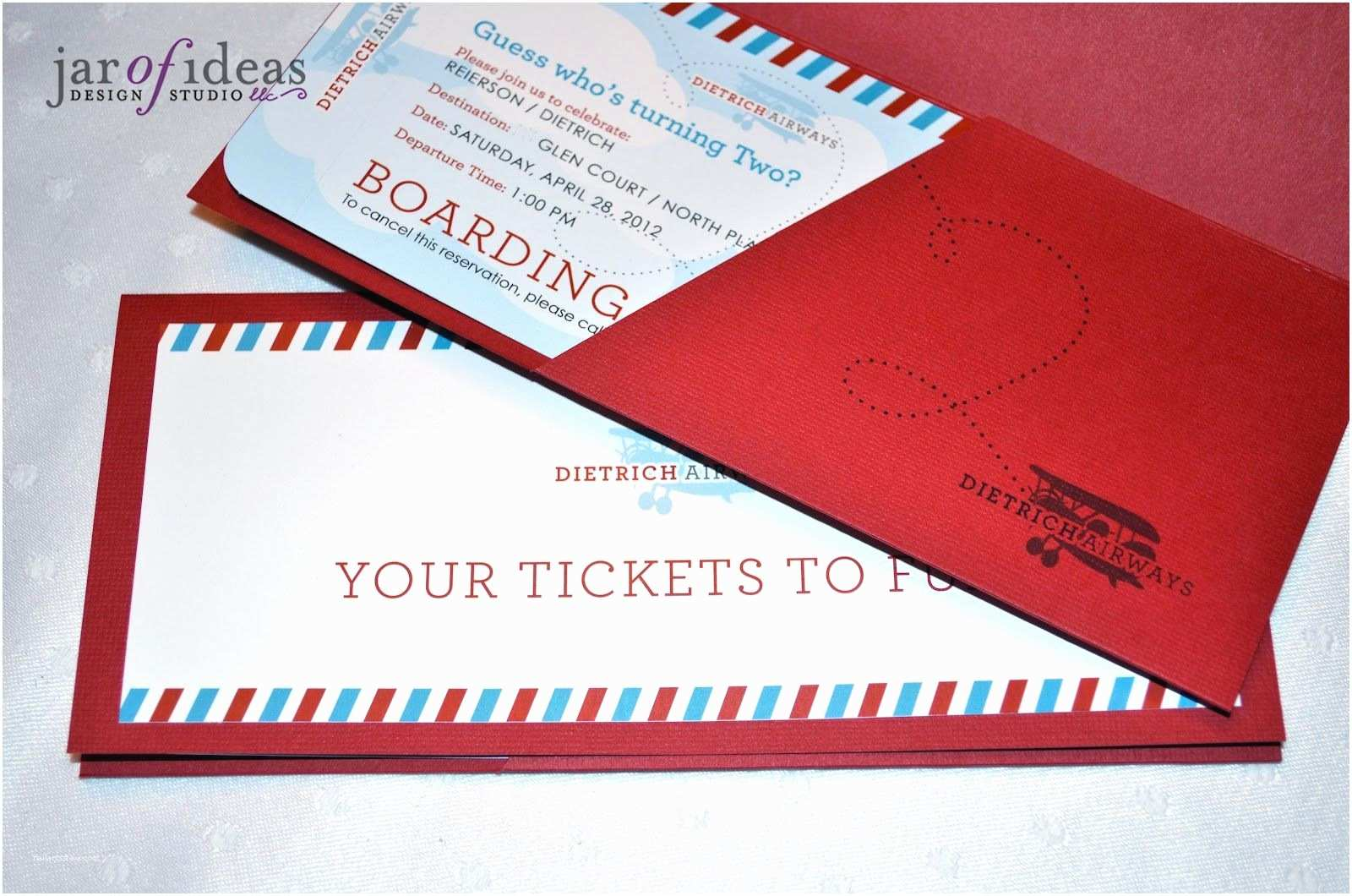 Plane Ticket Wedding Invitation Template Free Jar Of Ideas Airplane themed 2nd Birthday Invitation