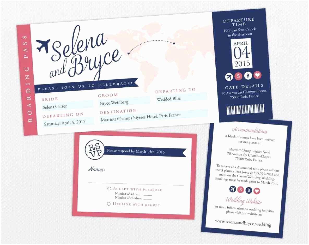 Plane Ticket Wedding Invitation Template Free Airline