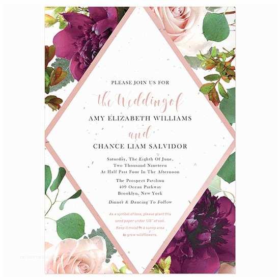 Plantable Wedding Invitations Beautiful Blooms Plantable Wedding Invitation