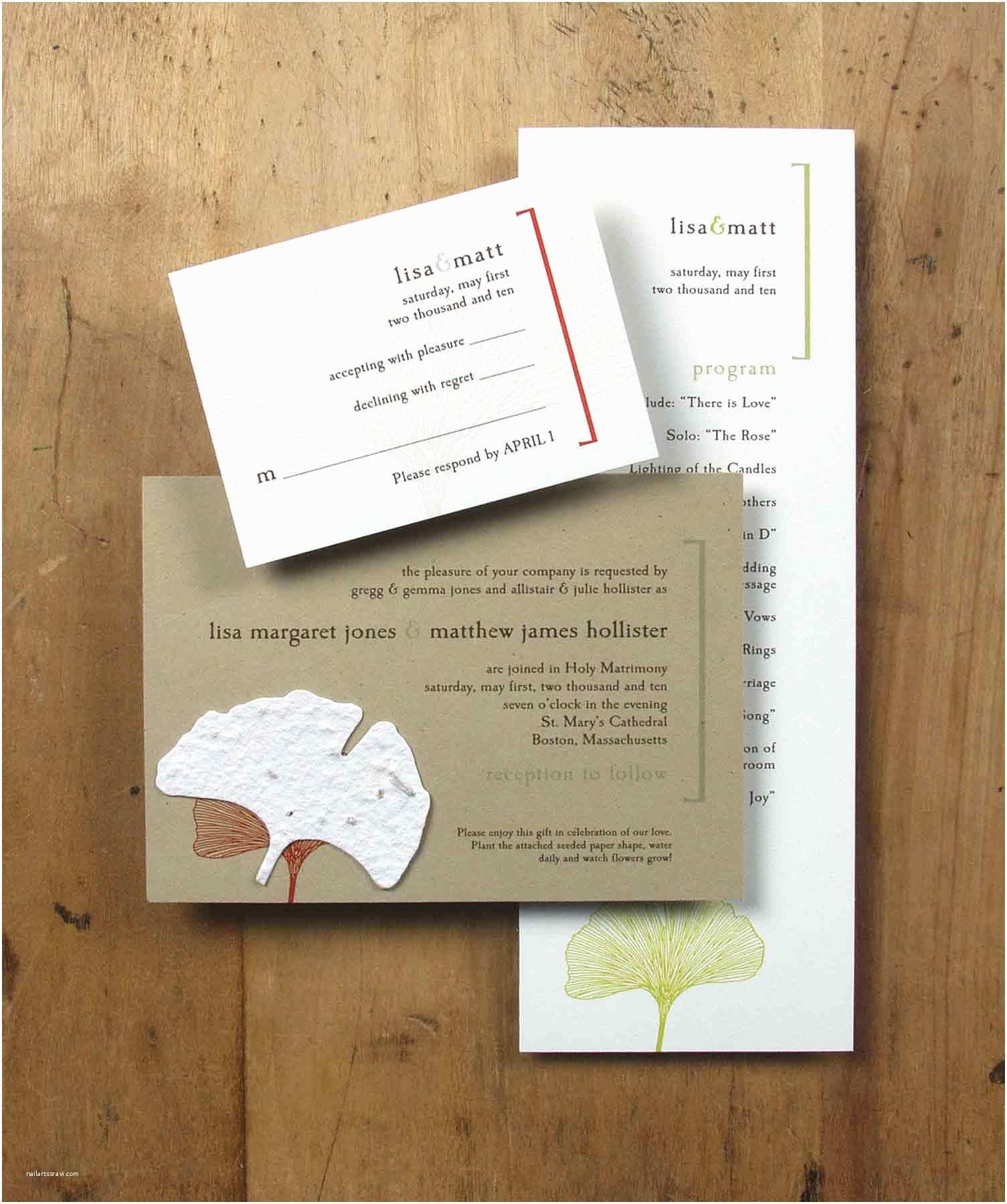 Plantable Wedding Invitations Cheap Affordable Eco Friendly Wedding Accessories Wedding Ideas