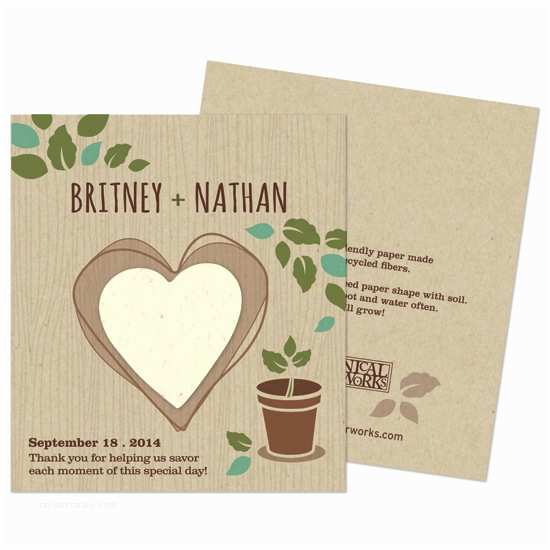 Plantable Wedding Invitations Cheap Herb Rustic Wedding Favor
