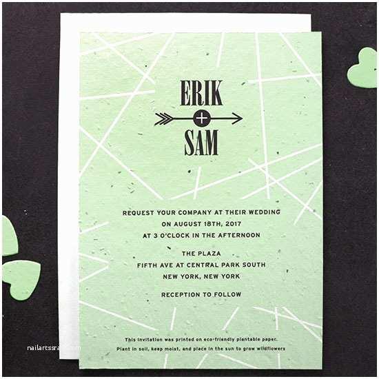 Plantable Wedding Invitations Cupid S Arrow Plantable Wedding Invitation