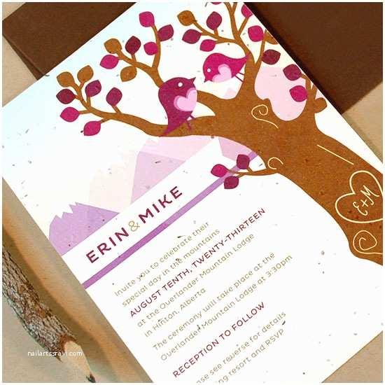 Plantable Wedding Invitations Custom Plantable Wedding Invitations