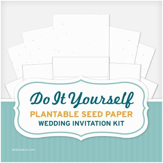 Plantable Wedding Invitations Do It Yourself Seed Wedding Invitation Kit