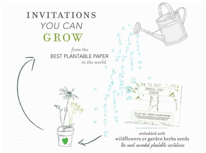 Plantable Wedding Invitations foreverfiances Plantable Invitations Ca Wedding Invitation