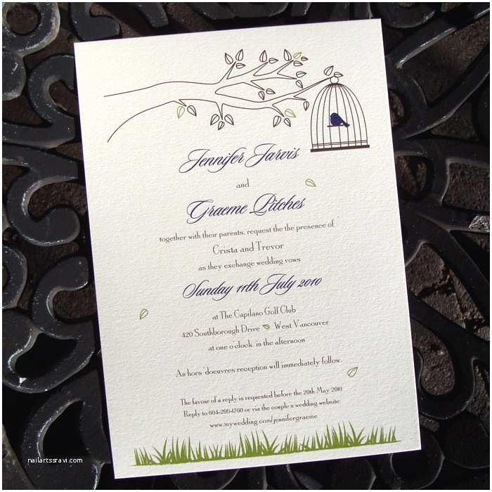 Plantable Wedding Invitations Little Birdcage Plantable Wedding Invitations Little