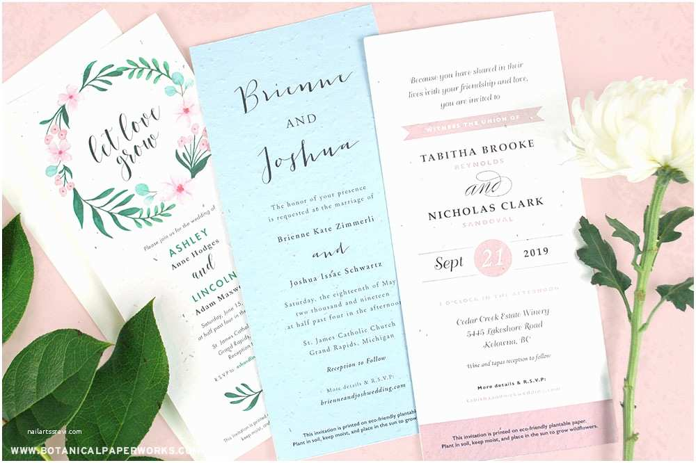 Plantable Wedding Invitations New Long Plantable Wedding Invitations Blog