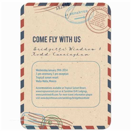 Plantable Wedding Invitations Plantable Passport Wedding Invitation