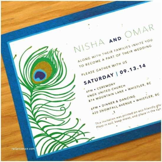 Plantable Wedding Invitations Plantable Peacock Wedding Invitations