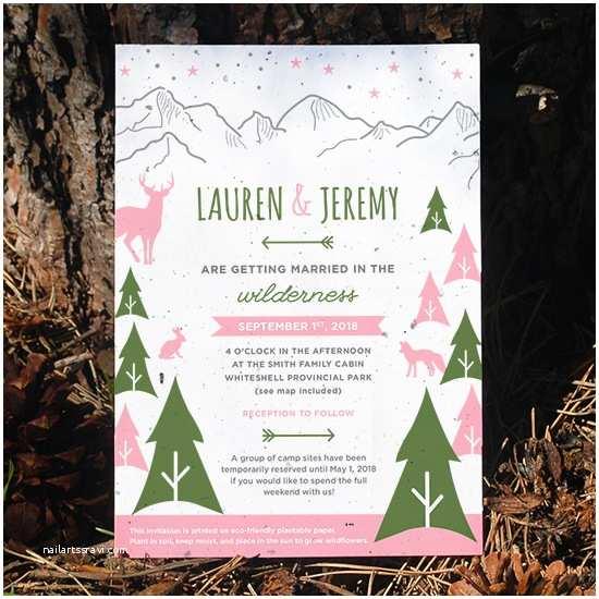 Plantable Wedding Invitations Wilderness Plantable Wedding Invitation