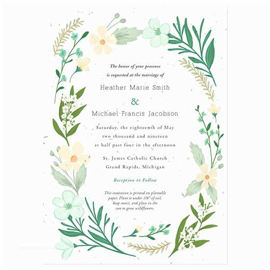 Plantable Wedding Invitations Wildflower Plantable Wedding Invitations