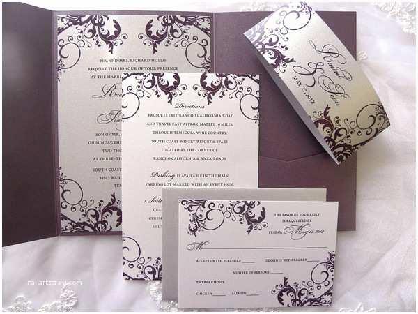 Plum Wedding Invitations Mind Blowing Plum Wedding Invitations