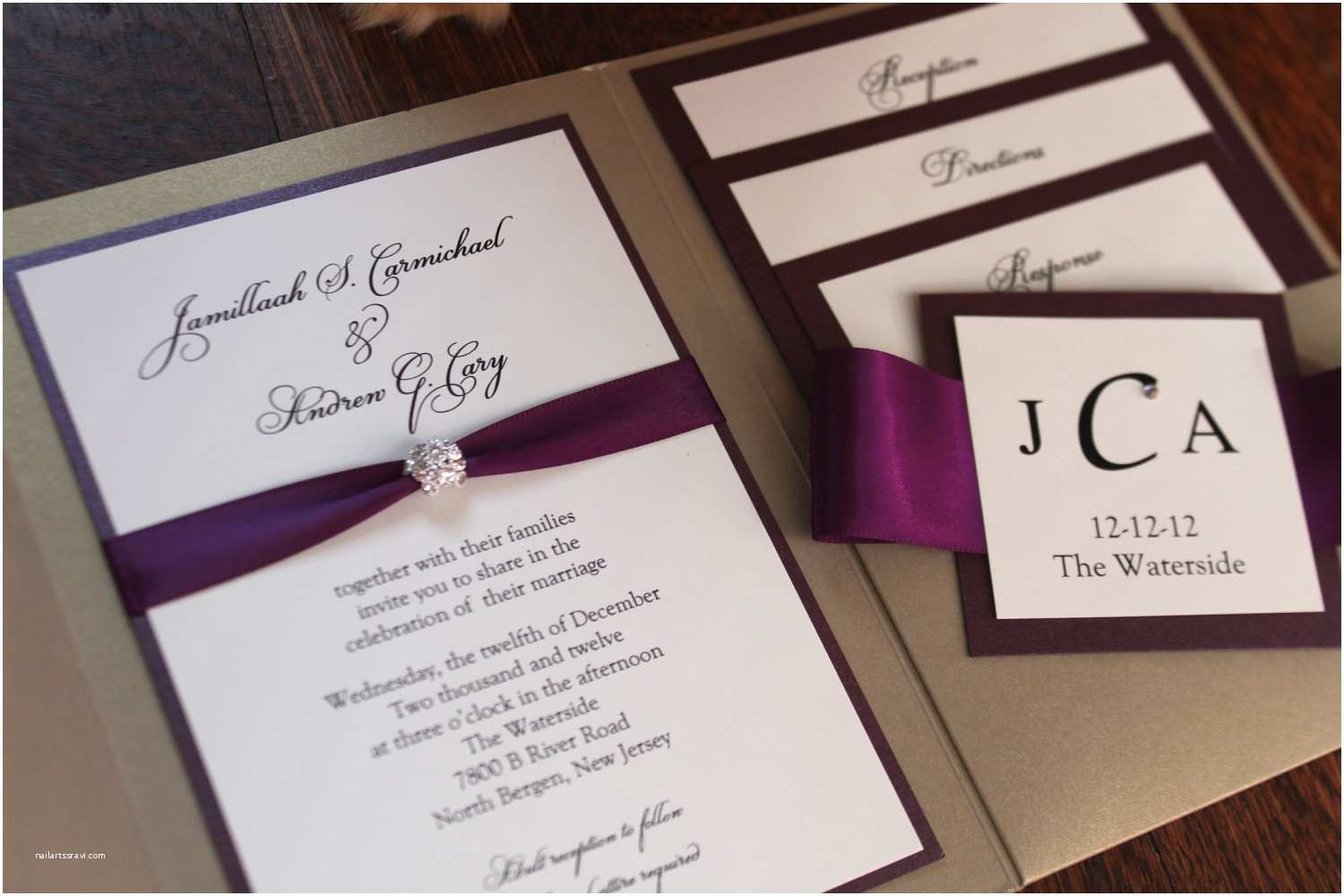 Plum Wedding Invitations Plum Wedding Invitations Throughout Ucwords] – Card Design