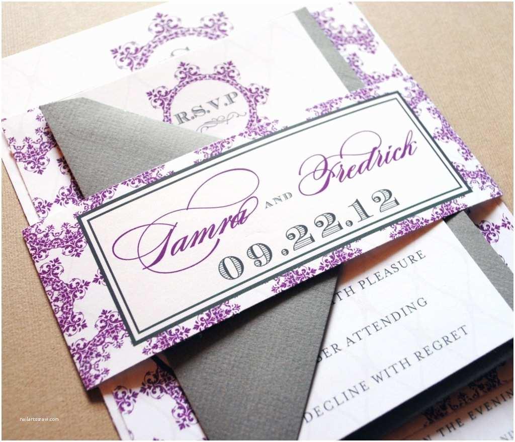 Plum Wedding Invitations Wedding Invitations In Grey and Plum Invitation Card Gallery