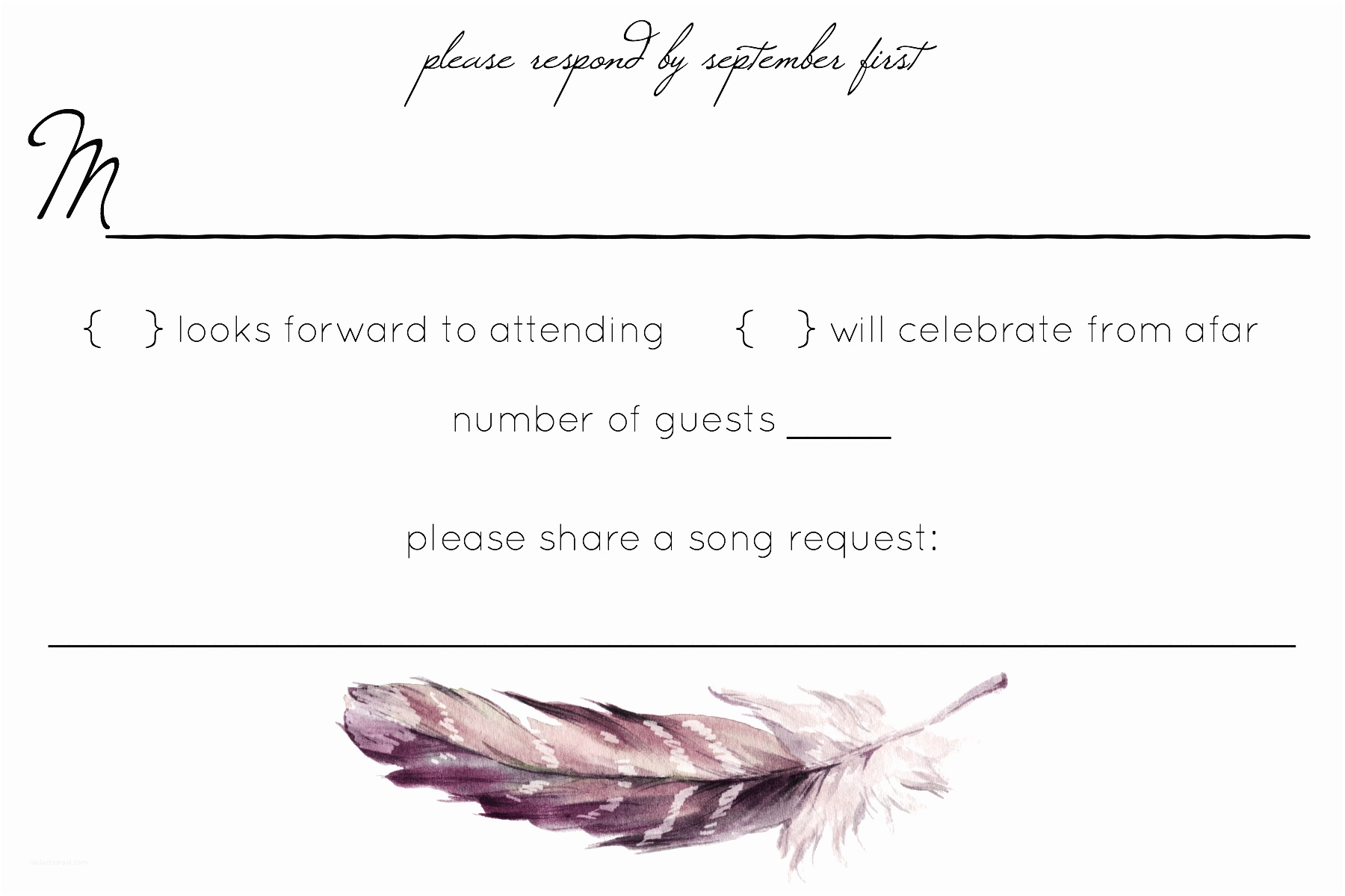 Plus One Wedding Invitation Wording Rsvp Wording Check for Plus One Troubles — the Knot