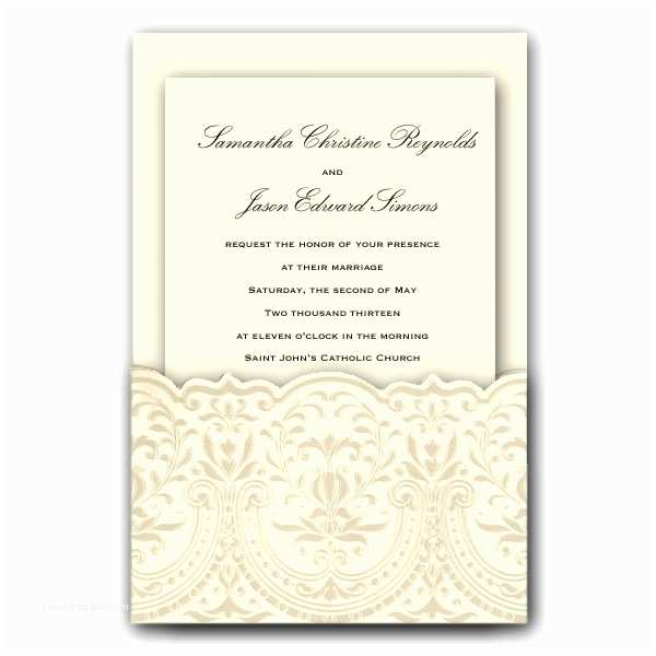Pocket Style Wedding Invitations Anna Platinum Pocket Wedding Invitations Clearance