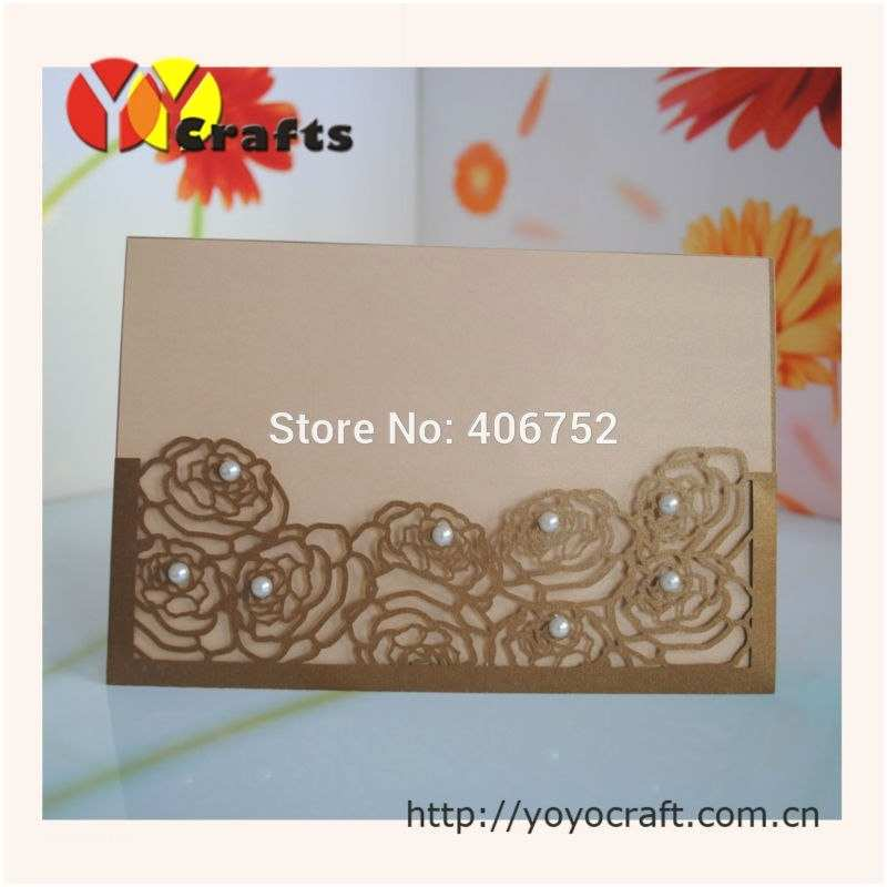 Pocket Style Wedding Invitations Elegant Fancy Wedding Invitations Flower Lace Pocket