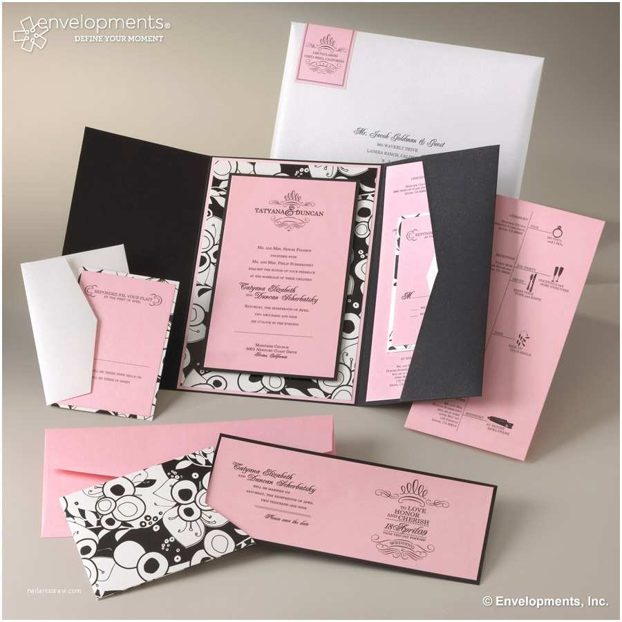Pocket Style Wedding Invitations Fearsome Pocket Wedding Invitation