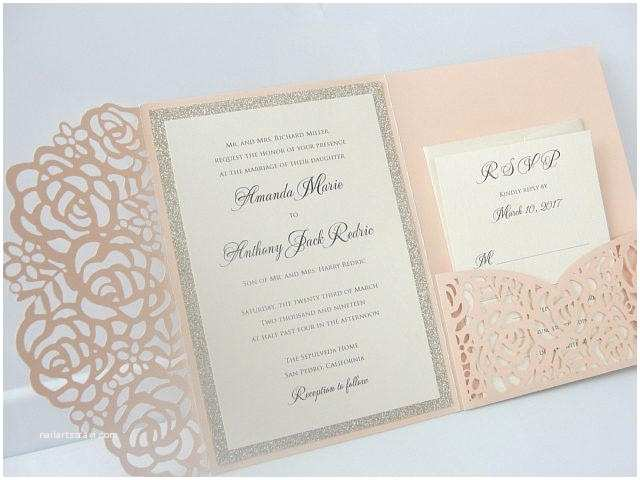 Pocket Style Wedding Invitations Lace Wedding Invitations Pocket