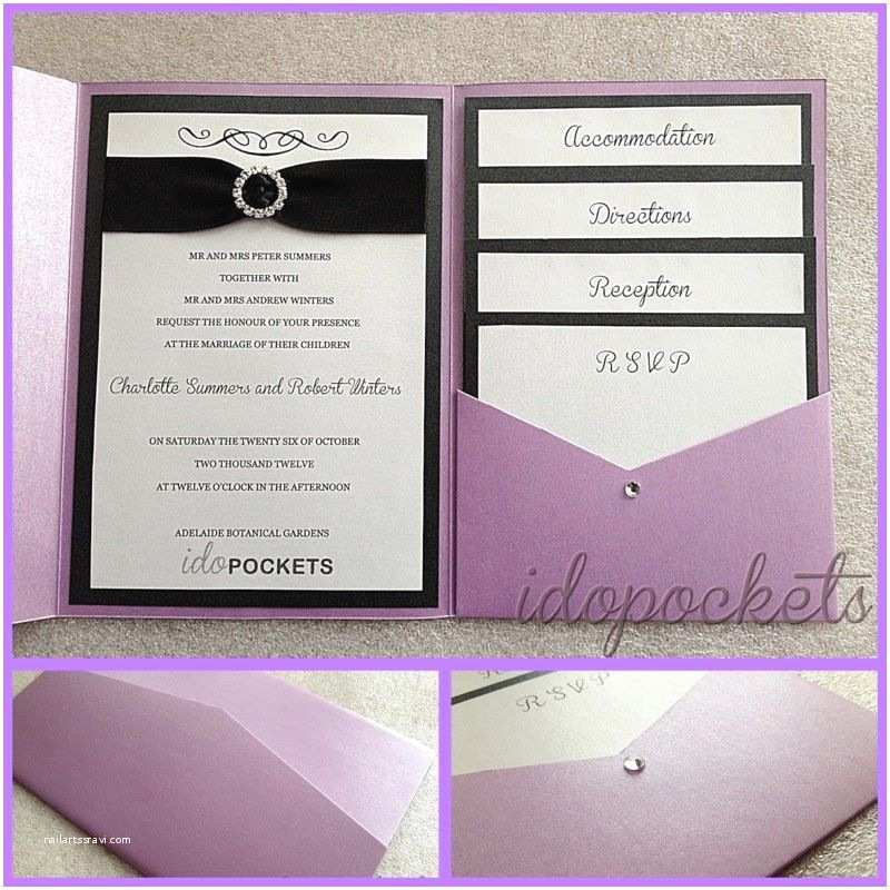 Pocket Style Wedding Invitations Pocket Fold Wedding Invitations Diy Envelopes Invite
