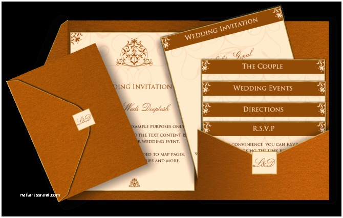 Pocket Style Wedding Invitations Pocket Style Email Indian Wedding Invitation Card Design
