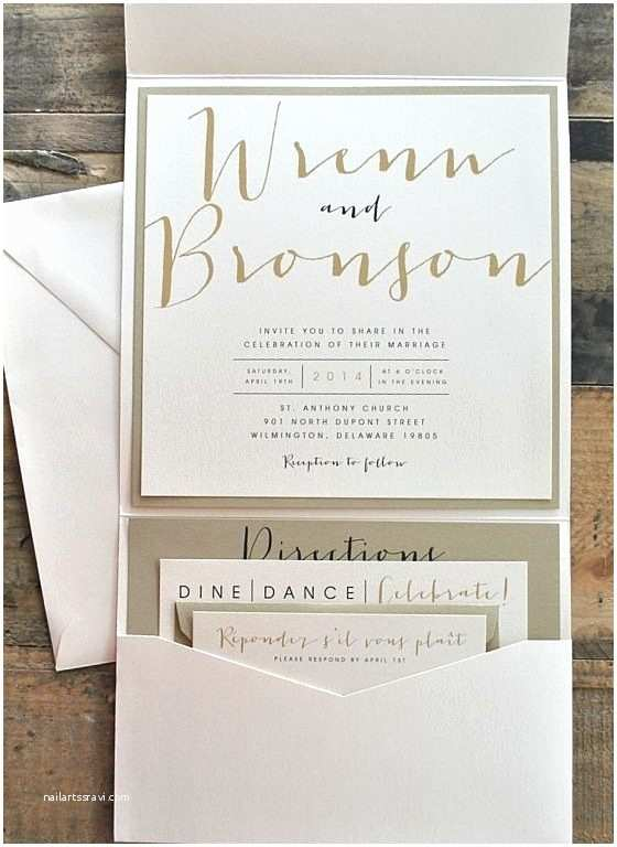 Pocket Style Wedding Invitations Pocket Style Wedding Invitations Cobypic