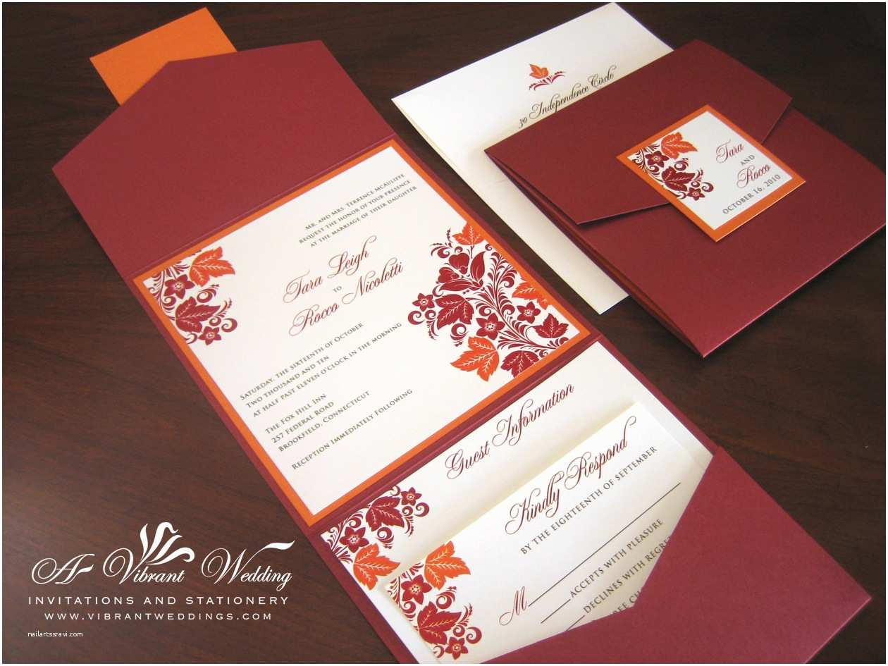 Pocket Style Wedding Invitations Wedding Invitations and Programs On Pinterest