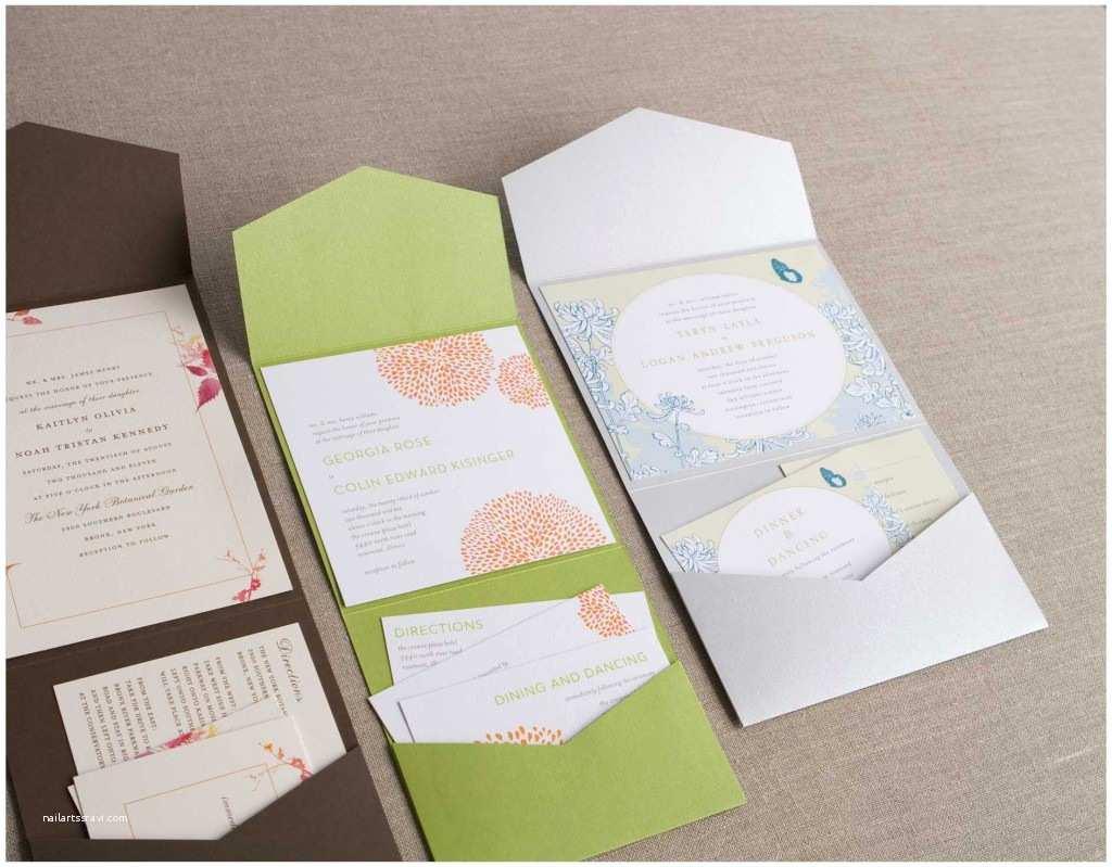 Pocket Wedding Invitations Weddingzilla Wedding Invitations All In E Pocket Folds