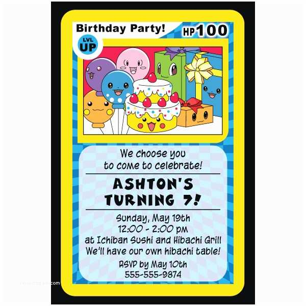 Pokemon Birthday Invitations 4 Best Of Free Printable Pokemon Birthday