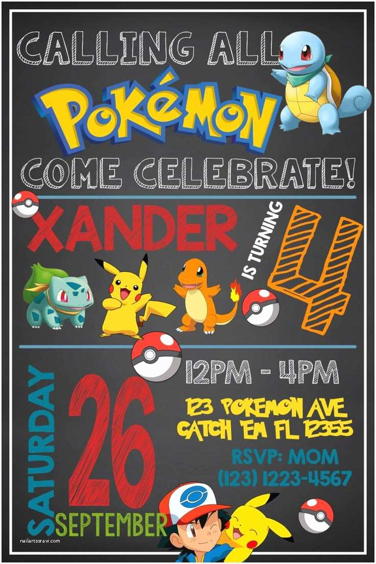 Pokemon Birthday Invitations Best 25 Pokemon Birthday Invites Ideas On Pinterest