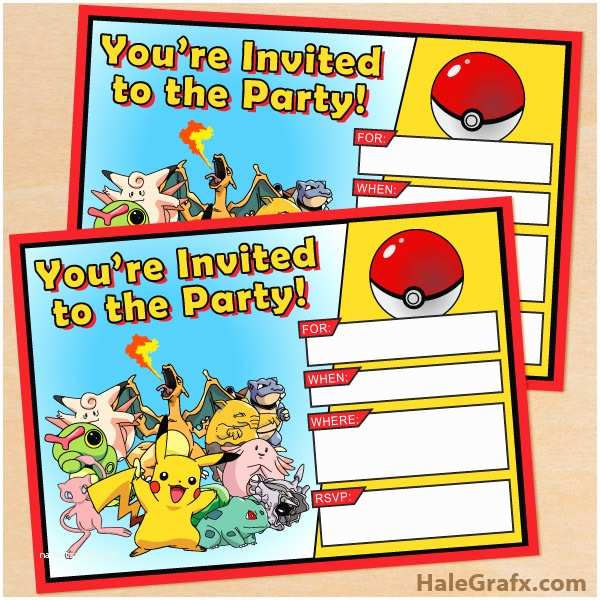 Pokemon Birthday Invitations Free Printable Pokémon Birthday Invitation