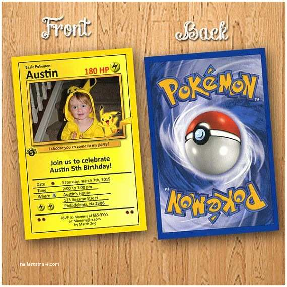 Pokemon Birthday Invitations Pokemon Birthday Invitation – orderecigsjuicefo