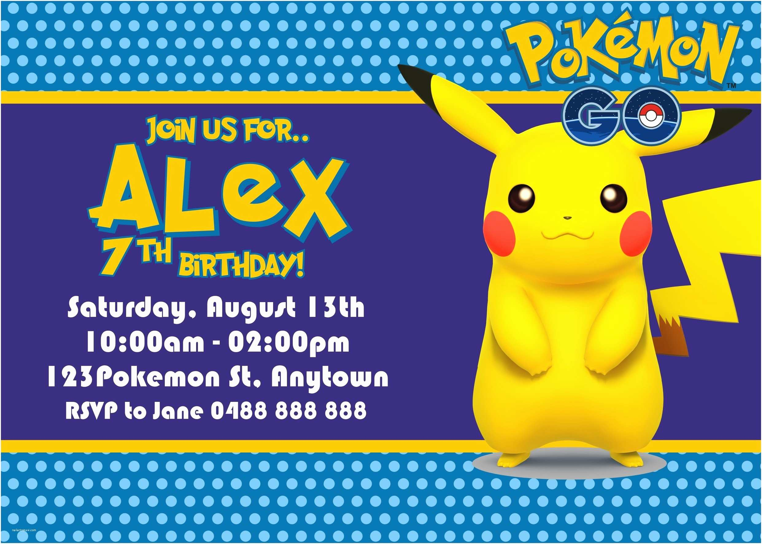 Pokemon Birthday Invitations Pokemon Birthday Invitations Free