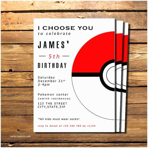 Pokemon Birthday Invitations Pokemon Invitation Pokemon Birthday by Happycolorsdesign