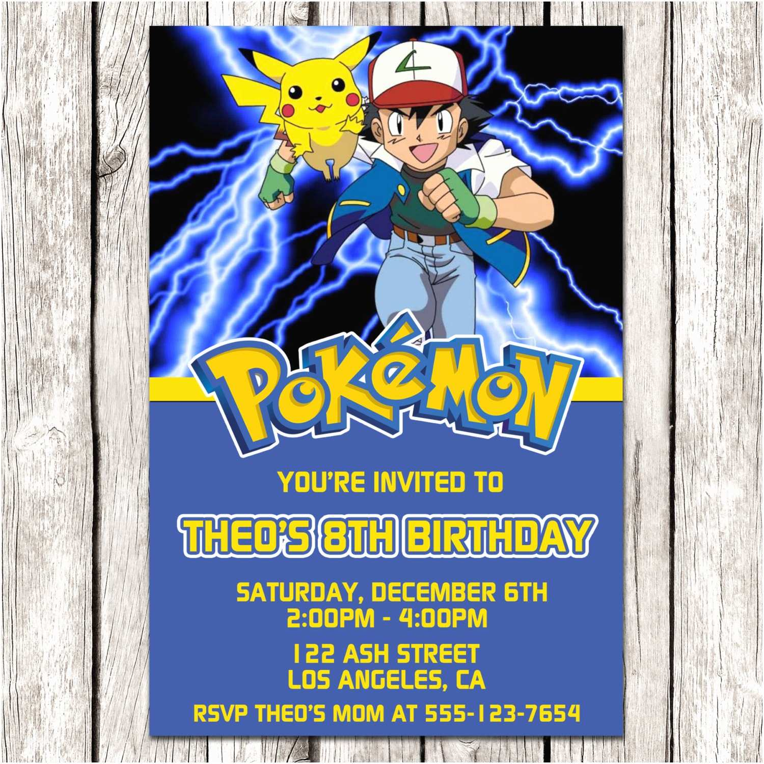 Pokemon Birthday Invitations Pokemon Invitation Pokemon Birthday Party Diy Printable