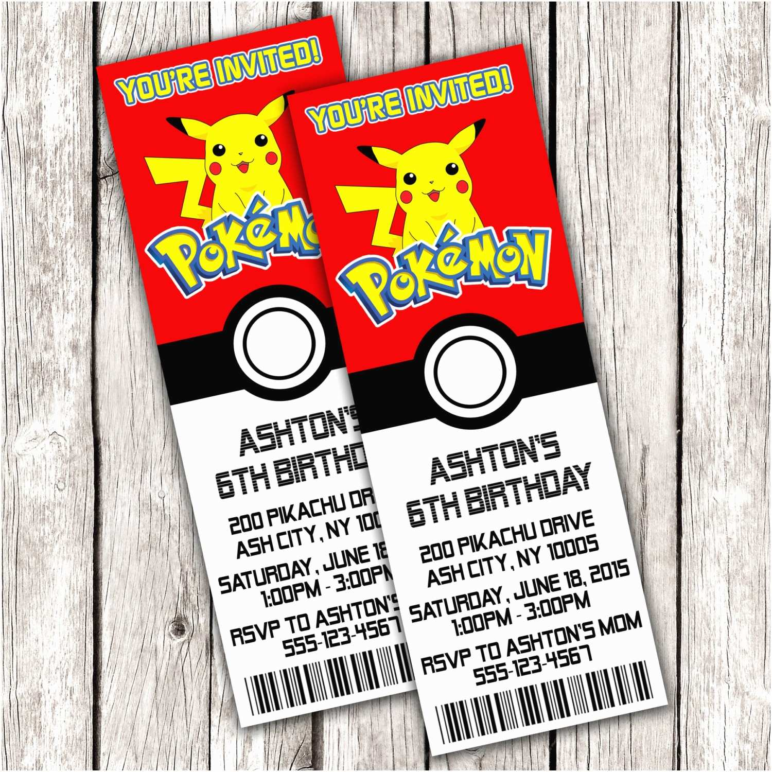 Pokemon Birthday Invitations Pokemon Ticket Invitation Pokemon Birthday Party Diy