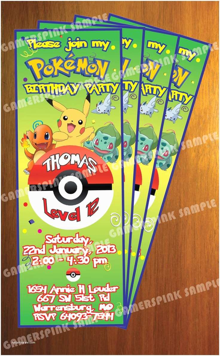 Pokemon Birthday Party Invitations 129 Best Images About Pokemon Birthday Party On Pinterest