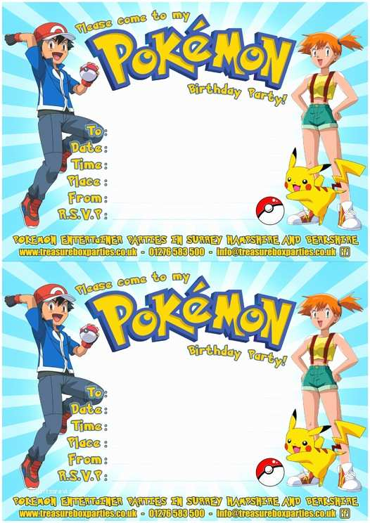 Pokemon Birthday Party Invitations Free Pokemon Printable Invitation – orderecigsjuicefo